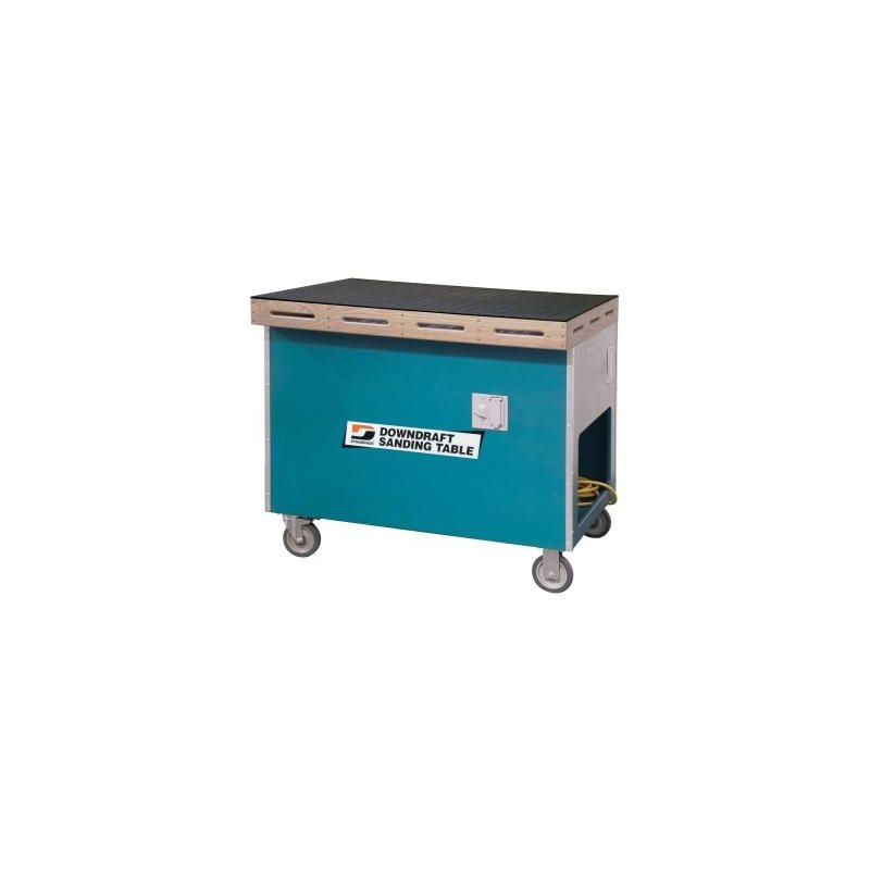 Dust collection and downdraft table
