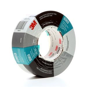3M(TM) EXTRA HEAVY DUTY DUCT TAPE 6969 SILVER, 48 MM X 54.8 M 10.7 MIL, 24 INDIVIDUALLLY WRAPPED ROLLS PER CASE, CONVENIENTLY PACKAGED