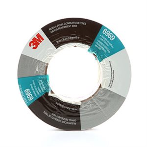 3M™ EXTRA HEAVY DUTY DUCT TAPE, 6969, SILVER, 72 MM X 54.8 M, 10.7 MIL, 12 PER CASE