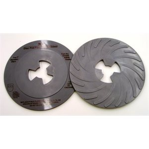 3M DISC PAD FACE PLATE, 80516, RIBBED, MEDIUM, GREY, 7""