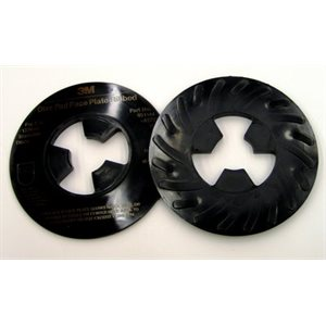 3M DISC PAD FACE PLATE, 81733, RIBBED, HARD, BLACK, 5""
