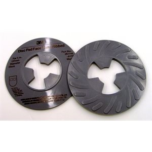 3M DISC PAD FACE PLATE, 81734, RIBBED, MEDIUM, GREY, 5""