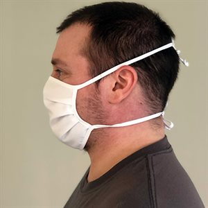 WASHABLE FABRIC MASK WITH CORDS 100/BAG