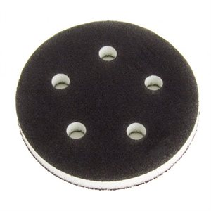"MIRKA 1055Y - 5"" DIA. 1/2"" THICK GRIP FACED INTERFACE PAD WITH 5 HOLES, 5/PKG"